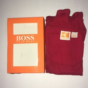 BOSS Hugo Boss Orange Cotton Tank Top Red S  L XL